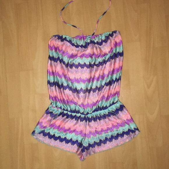 7345ac2d1e29 Victoria s Secret swimsuit cover up romper small. M 5a62425605f4301510813cfa